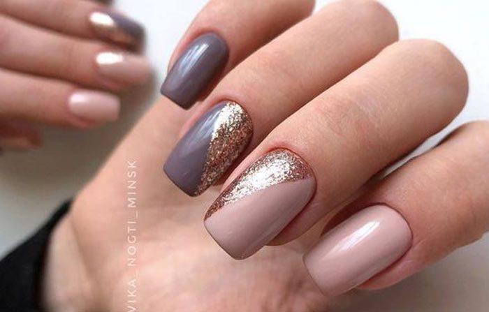розовый серый и серебро