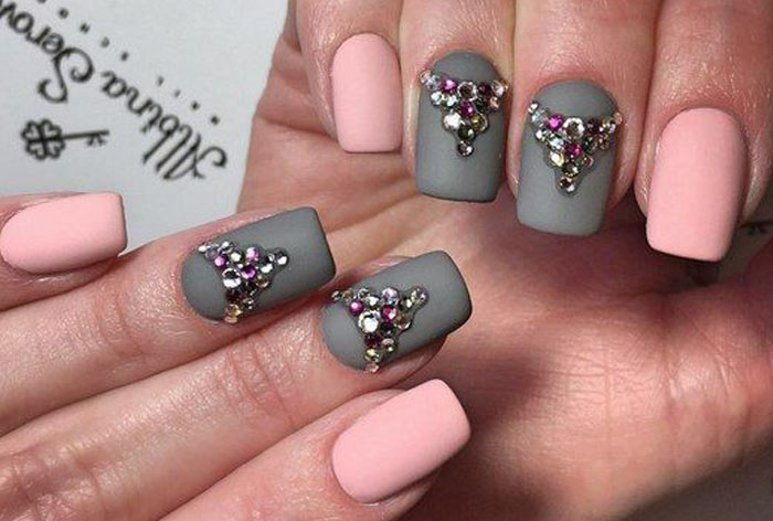матовый розово серый дизайн