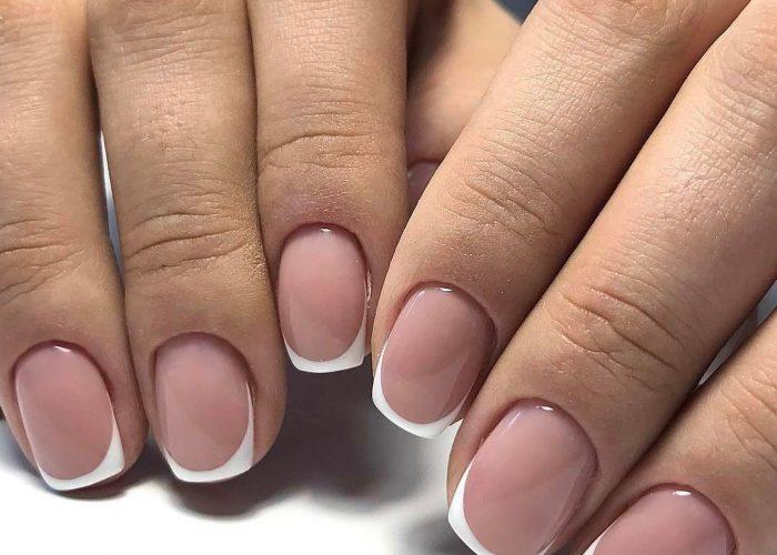 френч дизайн короткие ногти