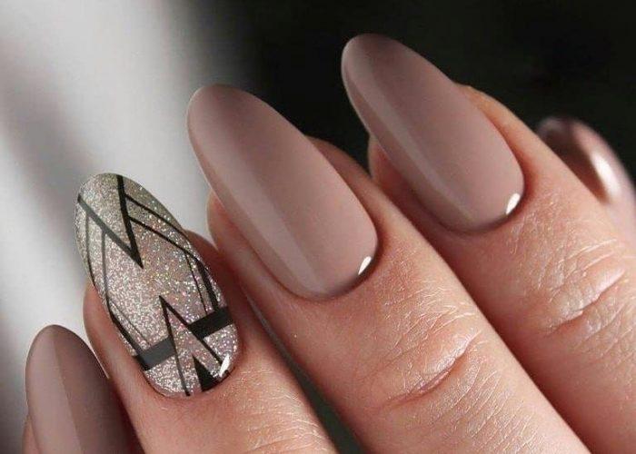 дизайн ногтей с блестками новинки