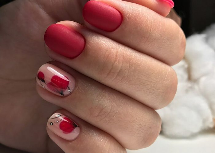 дизайн ногтей на короткие ногти 2019