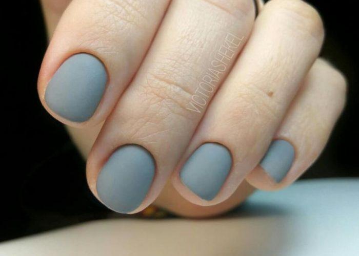 матовые короткие ногти дизайн 2019