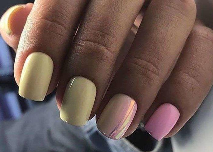 нежно розовый и желтый