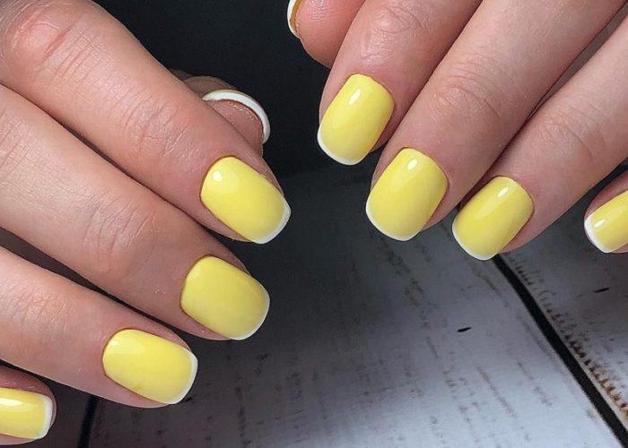 желтый с белым френч